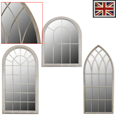 Gothic Rustic Arch Garden Mirror Outdoor Window Illusion Vintage Wall Home Decor