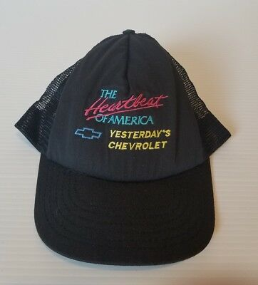 696c48aab0 VINTAGE CHEVROLET ADJUSTABLE Heartbeat of America Hat Hawaiian Red ...