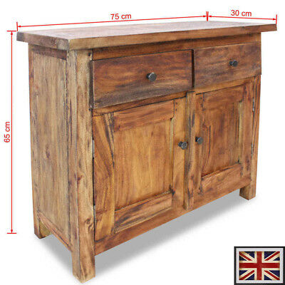 Solid Wood Sideboard Reclaimed Side Cabinet Cupboard Chest with 2 drawers/doors