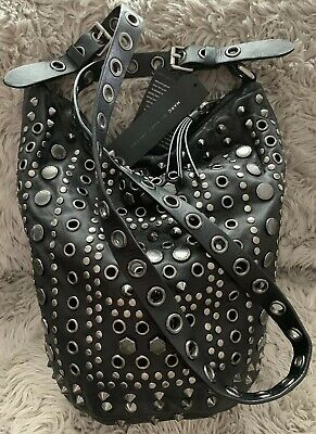 27189be894cb MARC by Marc Jacobs Large CROSSBODY HOBO STUDDED LEATHER Shoulder Bag