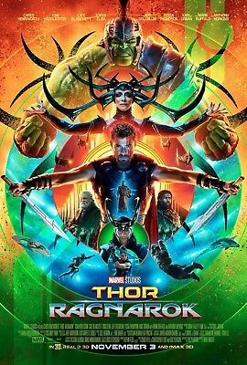Thor Ragnarok Movie Poster (24x36) - Chris Hemsworth, Hiddleston, Blanchett v2