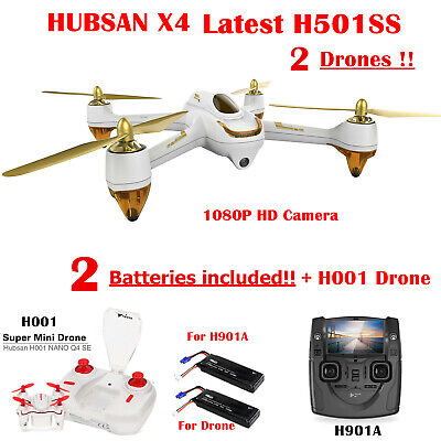 Hubsan X4 FPV RC Quadcopter HD Camera Follow Me Feature GPS RTF UK 2019 Edition