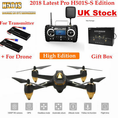 HUBSAN H501S X4 FPV DRONE W/ GPS 1080P Headless Follow Me RTH Brushless Copter