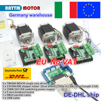 3AXIS NEMA 23 Stepper Motor 425oz-in &Driver 4.2A CNC Router ... on