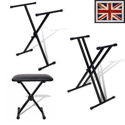 Keyboard Stand X Frame Folding Height Adjustable Portable Strong for Piano New