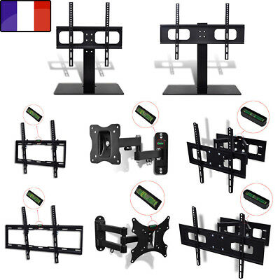 Support mural TV inclinable Support Mural TV Un/Double Bras Support TV Sur Pied