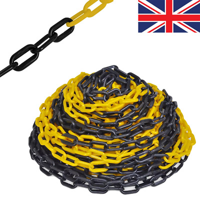 30m Plastic Warning Chain Caution Safety Barrier Fence Cord Line Traffic Crowd