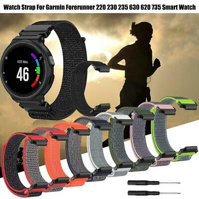 Replacement Wrist Band Strap+Tool For Garmin Forerunner 220/230/235/620/630/735