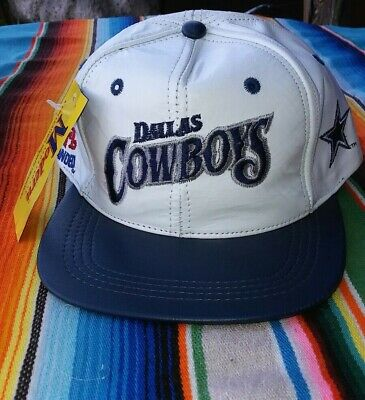 639ff49fecd200 Vintage 80's NWT Dallas Cowboys Modern Leather Snapback Hat Cap Made In USA  NFL