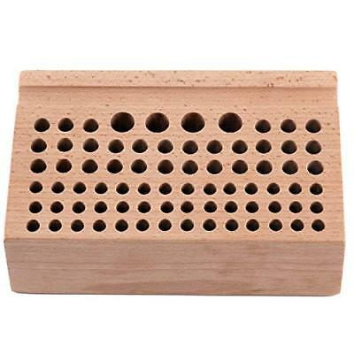 76 Holes Leather DIY Craft Wood Tool Rack Wooden Stamps Stand Holder Organizer Y