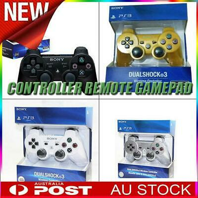 Wireless Bluetooth Gamepad Dual shock 3 Game Controller Joystick for PS3 AU!
