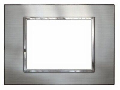 Legrand ARTEOR 770-SERIES SWITCH COVER PLATE Horizontal, Stainless Steel