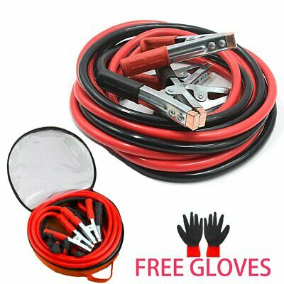 5 Metre 2000amp Heavy Duty Battery Jump Leads Booster Cables 5m Free Gloves Set