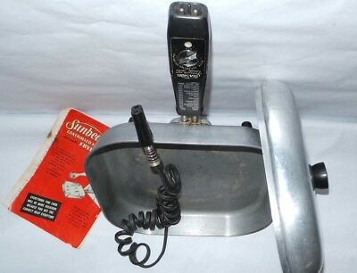 Sunbeam FP-M Controlled Heat Electric Frypan Frying travel vtg Pan 1150 Watt