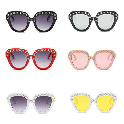 Oversized Diamond Big Square Sunglasses Mirror Sun Glasses For Kids Girls Baby