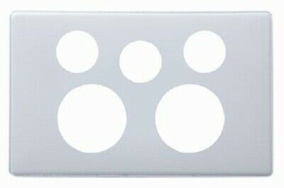 Legrand EXCEL LIFE DEDICATED DOUBLE POWERPOINT COVER PLATE Extra Hole, Ice