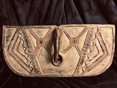 """Bobo Burkina Faso African Hand Carved Wood Butterfly Mask Tribal Africa 24""""x11"""""""