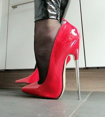 HIGHEST HEELS HIGH HEELS STILETTO PUMPS in GR. 40 ROT 17 cm