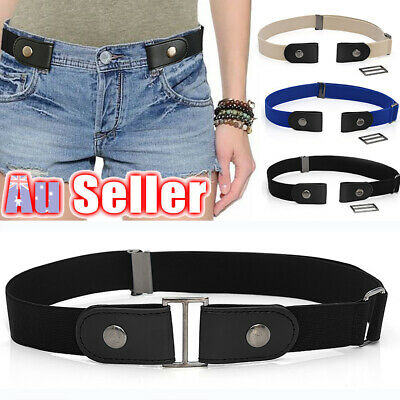 Buckle-free Elastic Womens Comfortable Belt for Jeans Invisible Hassle No Bulge