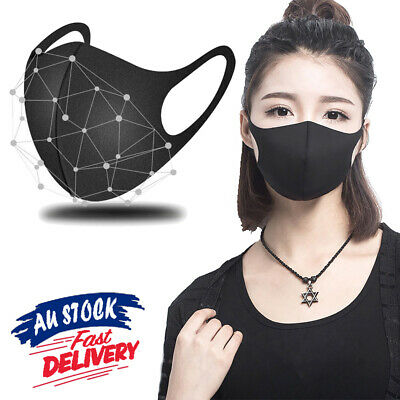 1/3Pcs Washable Mouth Face Mask Cycling Mask Anti Dust Respirator Earloop