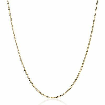 """Eternity Gold Box Chain Necklace in 14K Gold, 16"""""""