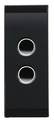 Clipsal GRID PLATE & COVER 2-Gang Arch Touch, Surface Mounted, Espresso Black