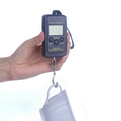 Portable Digital Luggage Scale Hand Held Checked Baggage Bag Carry On LCD 40Kg