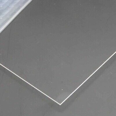 1mm Thick Transparent Clear Acrylic Sheet Perspex Laser Cut 8x8/10x20/20x30cm