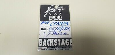 Jj-Backstage Concierto The Cramps 25/11/1991 Prensa Auditorio Pacha Valencia