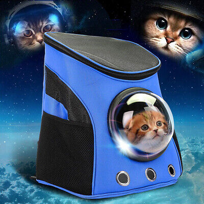 For Pet Cat Dog Travel Bag Astronaut Capsule Backpack Carrier Large Breathable