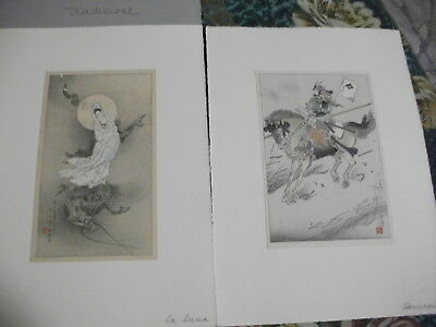 Ancient Japanese Prints First and Second Half Of The 1800s-Antiche Stampe Giappo