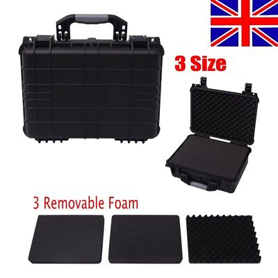 Protective Equipment Camera Case Hard Carry Plastic Box IP67 + Removable Foam UK