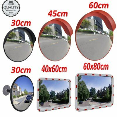 30/45/60/80cm Security Curved Convex Road Mirror Wide Angle Traffic Driveway New