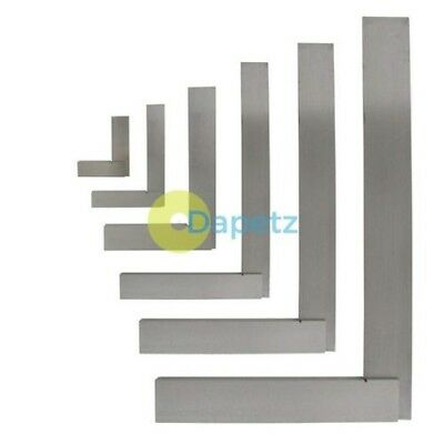 """4"""" (100mm) 6"""" (150mm) 8"""" (200mm) 12"""" (300mm) Engineers Polished Steel Set Square"""