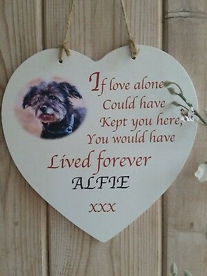 Personalised Memorial Pet Hanging Heart