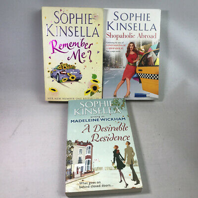 3 Sophie Kinsellea Books - Remember Me, Shopaholic Abroad, A Desirable Residence