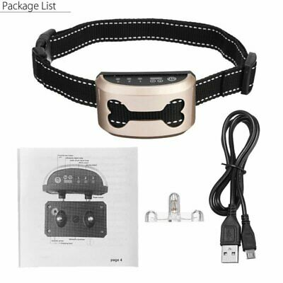 Anti Bark Electric Shock Ultrasonic Dog Collar Pet Training Collar Waterproof