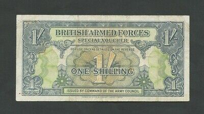 BRITISH ARMED FORCES  1 sh  1946-8  1st Issue  GF  England Banknotes
