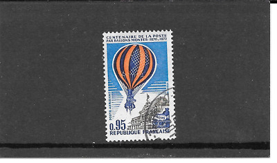France 1971.cent Years of the post par Ballons.timbre Gum Seal Rond. Pa. N° 45