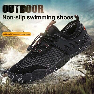 online store 763b0 aba68 Men Multi purpose Outdoor Five-finger Barefoot Shoes Elastic Aqua Shoes  High New