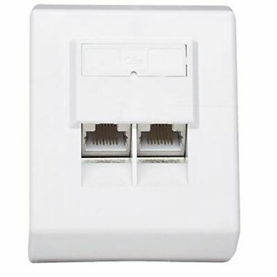 Intellinet Cat5E Surface Mount Box Ftp- 2-Port White