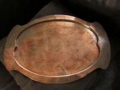 Vintage Beldray Copper and Brass Serving Tray Hammered Finish  Arts & Crafts