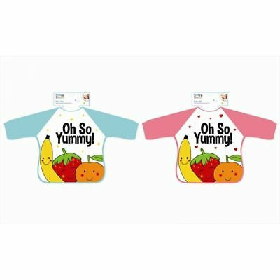 Baby Kids Long Sleeve Feeding Bibs Coverall Apron NEW