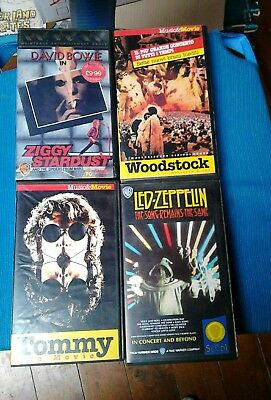 LOTTO 4 VHS, Ziggy Dtardust, Woodstock, Tommy, The Song