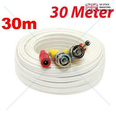 30mMETRE PRE-MADE SIAMESE CABLE CCTV BNC VIDEO AND DC POWER CABLE W 30M