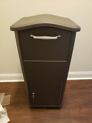 WHITEHALL WALL MOUNTED Locking Mailbox Color: Black