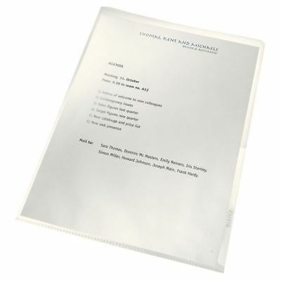 Leitz Re:Cycle Cut Flush Folders Clear (Pack of 100) 4001-00-03 [LZ39719]