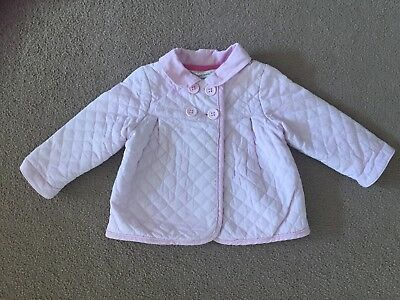 John Lewis Girls Pink Quilted Jacket Age 0-3 Months