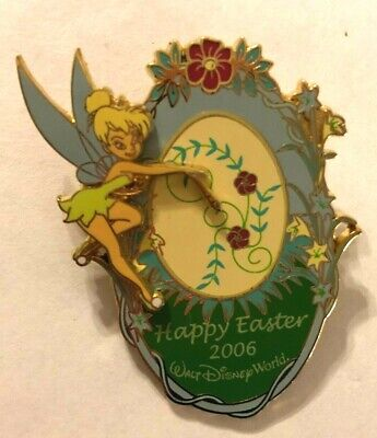 disney trading pin limited edition Happy Easter 3d tinker bell peter pan fairy
