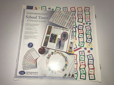 SCHOOL TIMES Creative Memories 12x12 11 Pages Card Sticker Scrapbook Album NEW